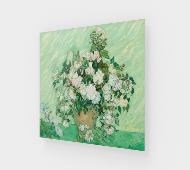 Vase with Pink Roses by Vincent Van Gogh Painting | Fine Arts
