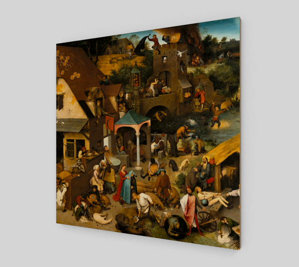 Netherlandish Proverbs by Pieter the Elder Bruegel | Fine Arts