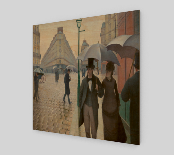 Paris Street; Rainy Day by Gustave Caillebotte [Fine Art Prints]
