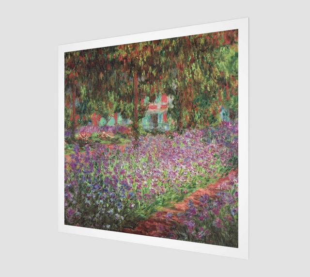The Artist's Garden at Giverny by Claude Monet [Museum Quality Fine Art Prints]