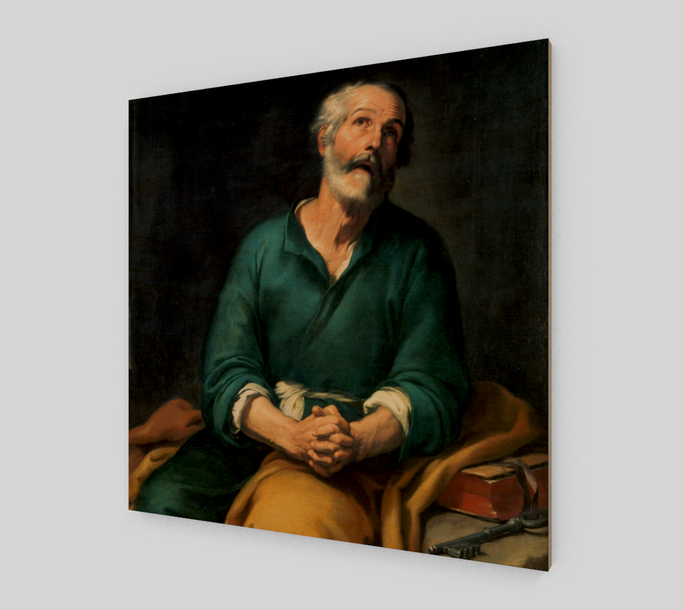 St. Peter in Tears by Bartolome Esteban Murillo | Canvas Fine Arts