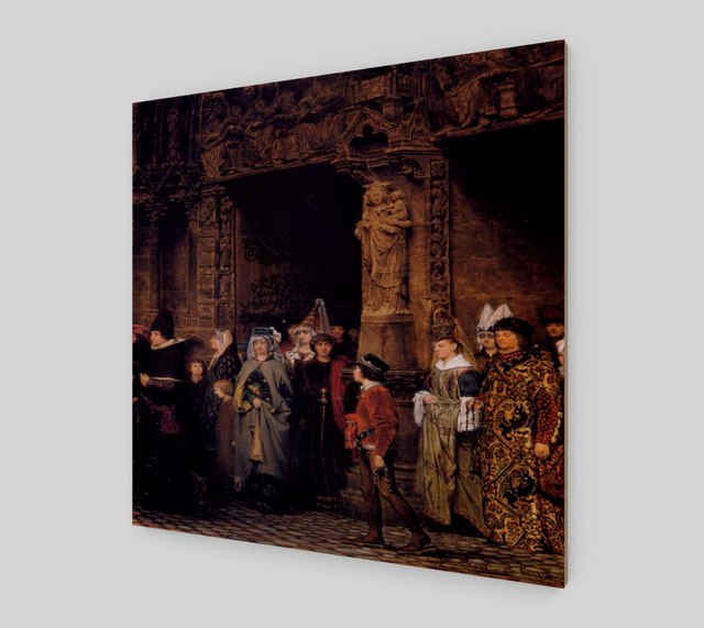 Leaving Church by Lawrence Alma Tadema | Fine Arts Prints