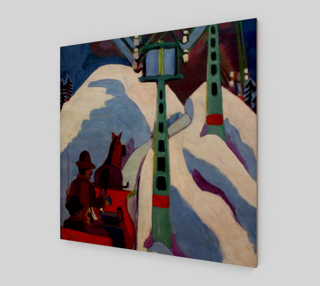 The Sleigh Ride by Ernst Ludwig Kirchner | Canvas Fine Arts
