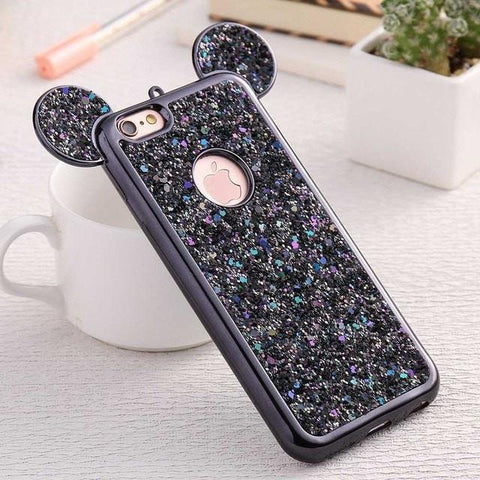 Ovasmart Black / For iPhone 6 6S Mickey Ear Hard iPhone Case