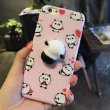Ovasmart Panda / for I7 Squishy 3D Phone Case for iPhone