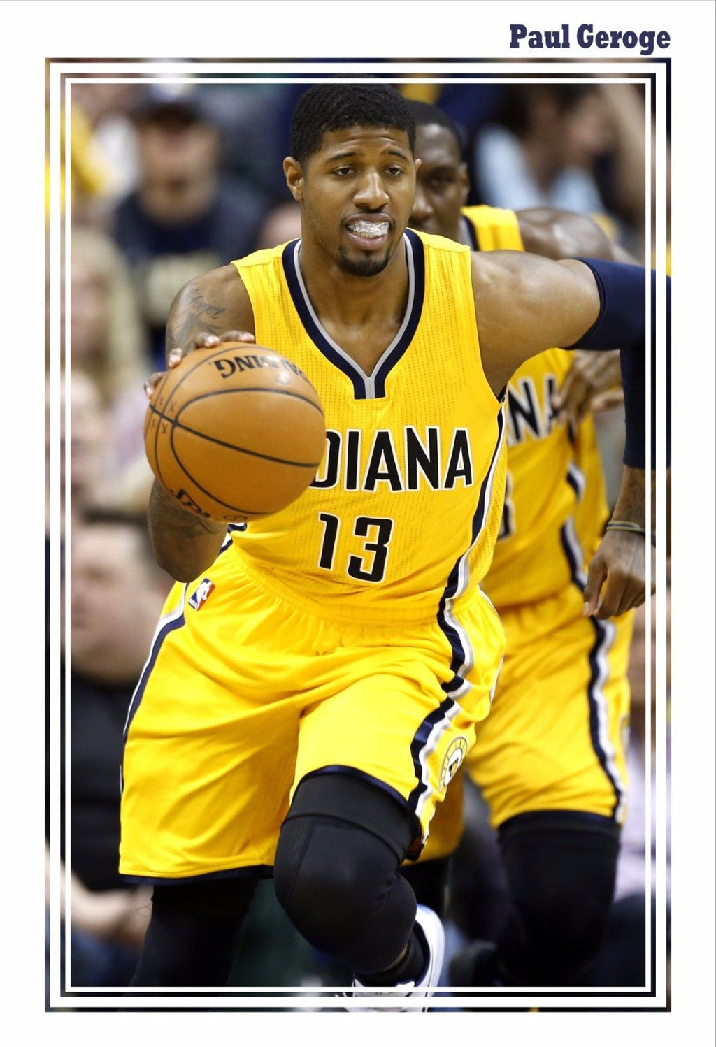 9a6dd74f6f8 GIANT 13x19 PRINT - NBA SUPERSTAR PAUL GEORGE GAME POSTER – Image ...
