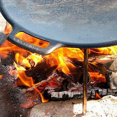 Griddle Pans in Australia use over open fire