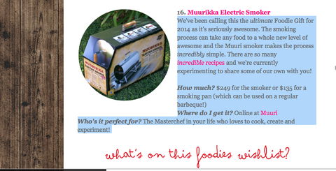 Muurikka Electric Smokers Review | Ultimate Foodie Gift Guide