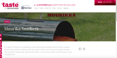 Muurikka Electric Smokers| Taste of Melbourne 2017