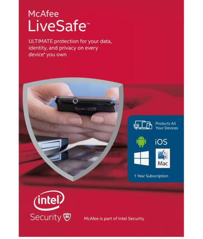 McAfee LiveSafe Unlimited Devices – 1 Tahun