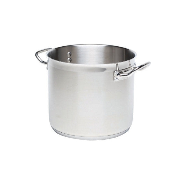 Deepstockpot(No Lid)20L 32cm Dia 26cm High18/4 s/steel     HANDLE TO HANDLE 17across