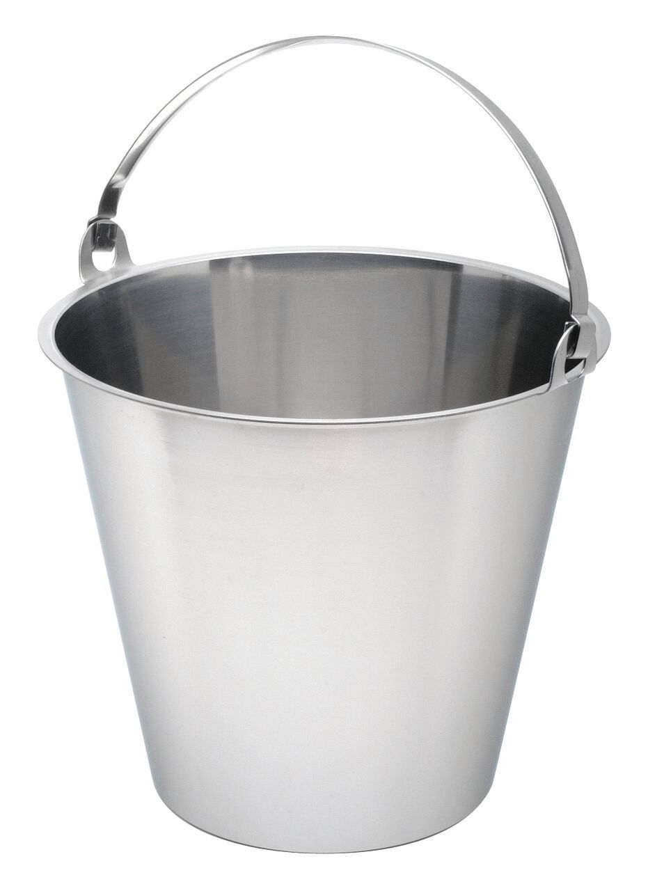 Swedish S/St. Bucket 10 Litre Graduated