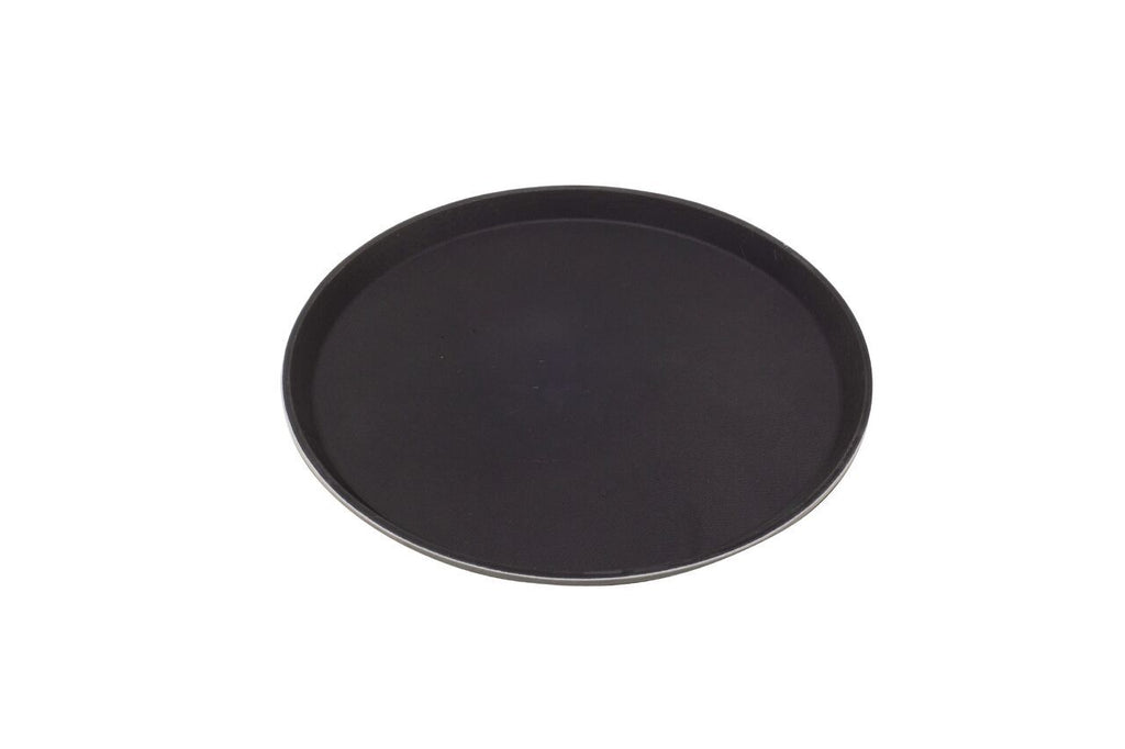 "Tray Fibreglass Round 14"" Black"