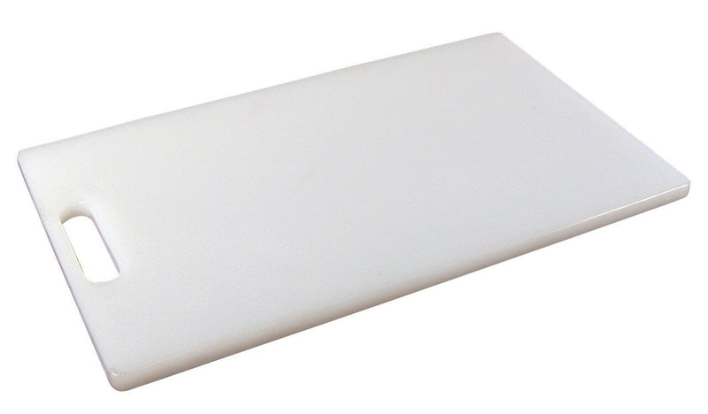 "1/2"" white LDPE Cutting Board 10"" x 6""  1/2"" Thick"