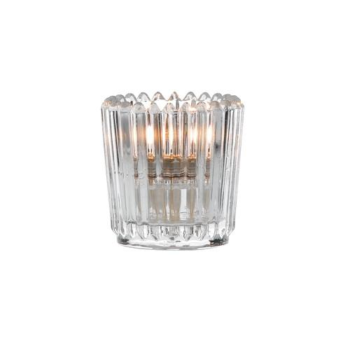 Ribbed Votive Clear (box of 24)