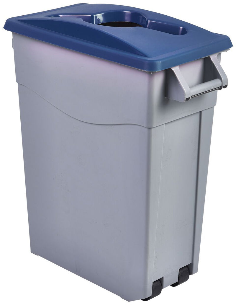 Blue Paper Lid For Slim Recycling Bin
