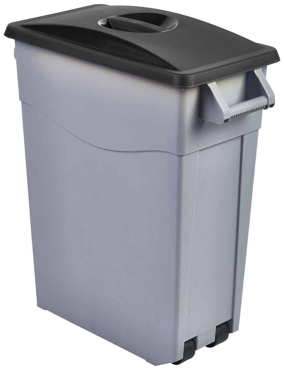Black Closed Lid For Slim Recycling Bin
