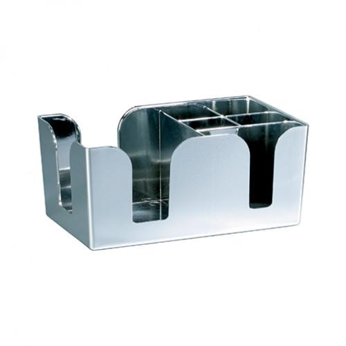 6 Compartment Bar Caddy Chrome Effect