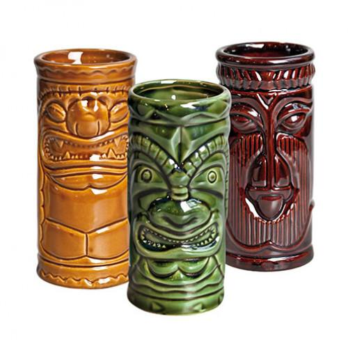 Tiki Set Khaki/Green/Brown 25cl (set of 3)