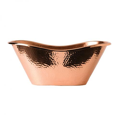 Solid Copper Hammered Bath Tub