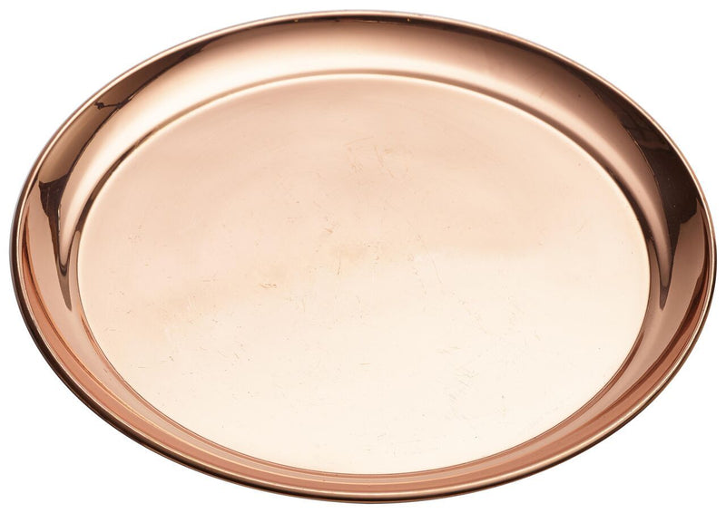"Copper 12"" Round Tray 300mm"