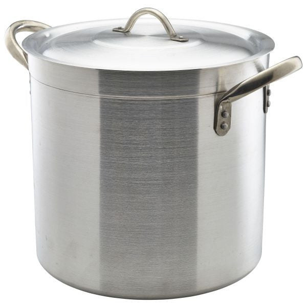 Deep Stockpot & Lid 30cm 21 Litre 300mm high Aluminium