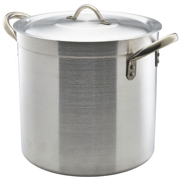 Deep Stockpot & Lid 40cm 50 Litre 400mm high Aluminium