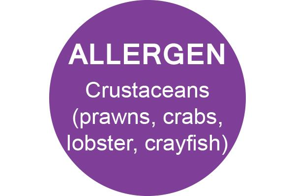 CRUSTACEANS - Dot Label- Box of 1000