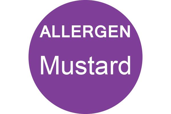 MUSTARD - Dot Label- Box of 1000