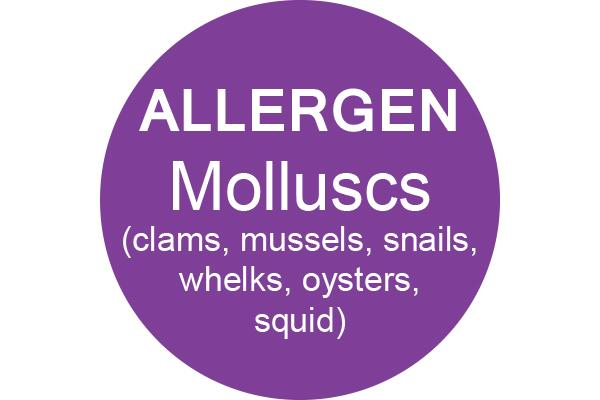 MOLLUSCS - Dot Label- Box of 1000