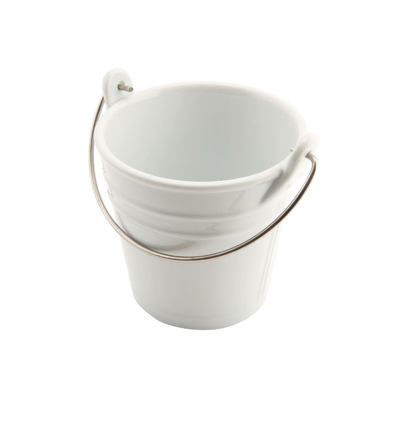 Porcelain Bucket W/ St/St Handle 11cm Ø 43cl