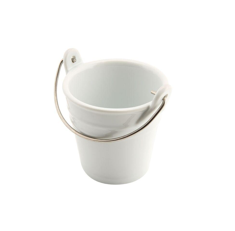 Porcelain Bucket W/ St/St Handle 9cm Ø 25cl