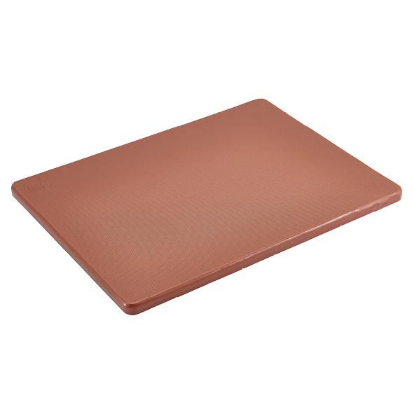 "Brown 1/2"" Low Density Small PE Cutting Boards"