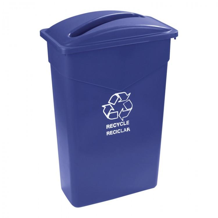 Trimline Recycle Blue Container 87L