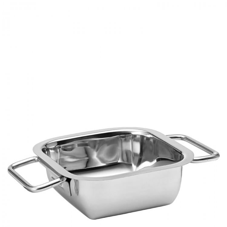 "Stainless Steel Square Dish 6.25"" (16cm) 30.5oz (87cl) (box of 12)"