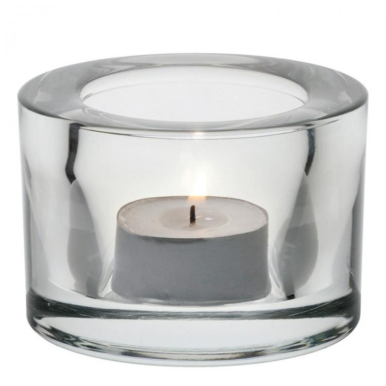Chunky Tealight Holder - Clear (box of12)