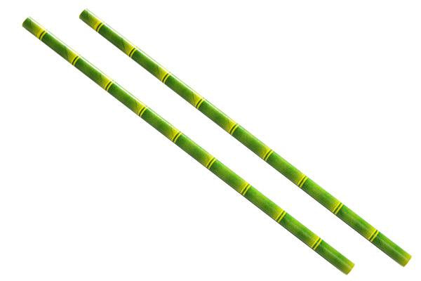 8INCH - Bamboo Paper Straw 6mm pack of 25