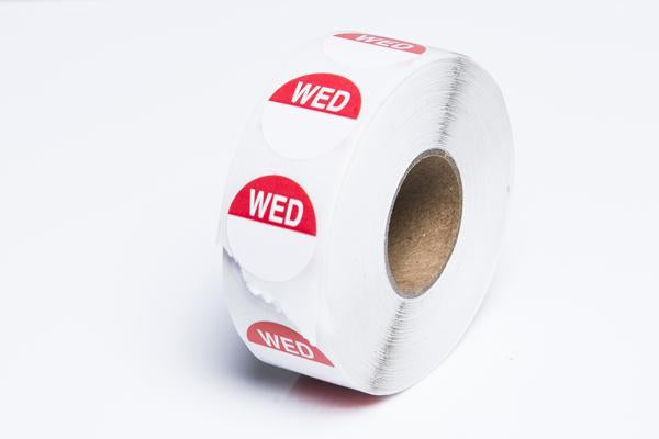 WEDNESDAY - Round Day Dot- Box of 1000