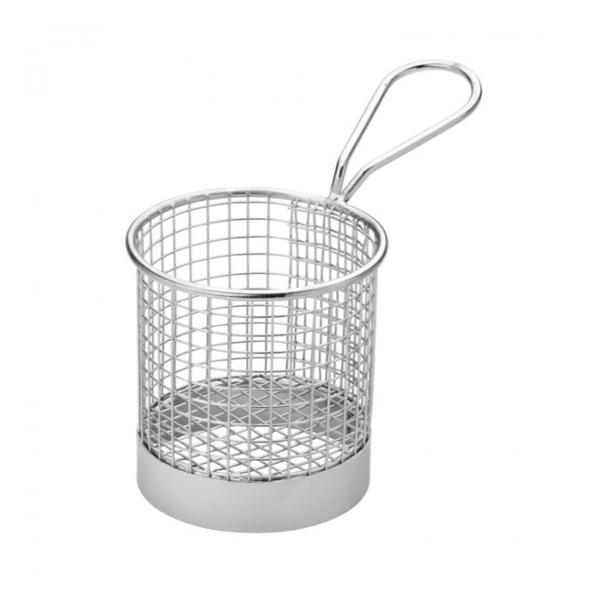 "Round Service Basket 7,5 cm/3"" - Chrome"