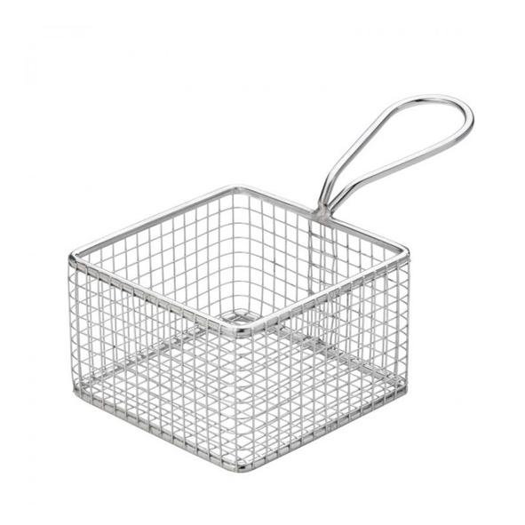 "Square Service Basket 9,5 cm/3,75"" - Chrome"