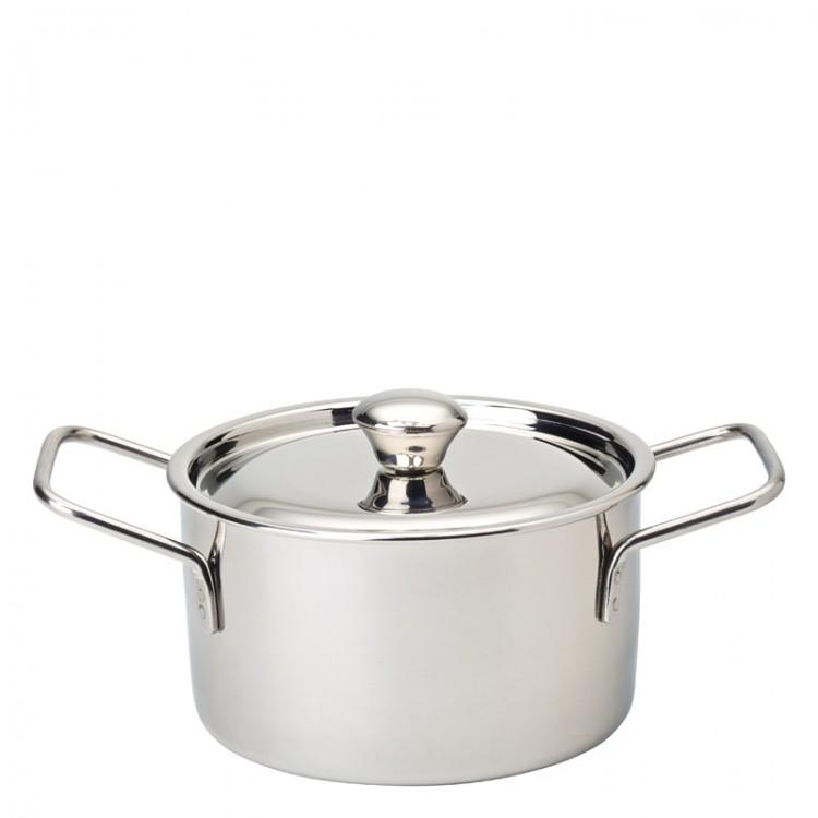 "Stainless Steel Handled Casserole 4"" (10cm) - 16.5oz (47cl) (box of 6)"