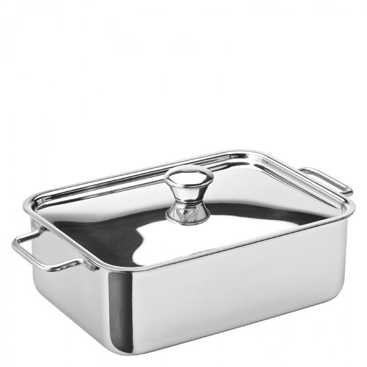 Stainless Steel Rectangular Lid (box of 6)