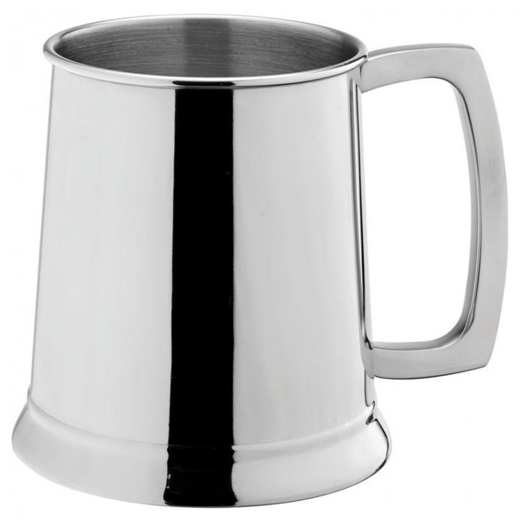 Stainless Steel Handled Tankard 20oz (58cl) CE Pint (box of 12)
