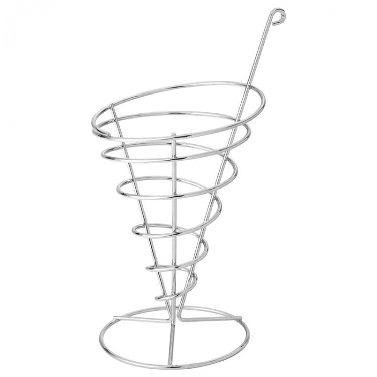 "Wire Cone 4.75"" (12cm) H: 8.75"" (22cm) (box of 6)"