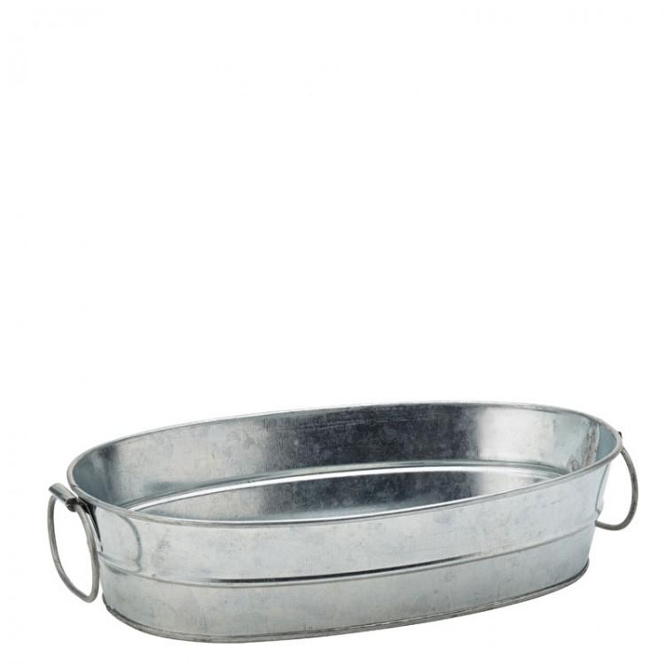 "Galvanised Shallow Trough 9 x 6"" (22.5 x 15cm) (box of 6)"