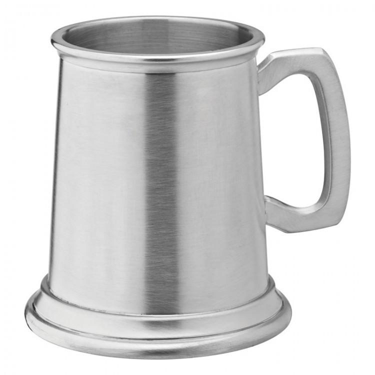 Albany Brushed Pewter Tankard 10oz (28cl) CE Half Pint