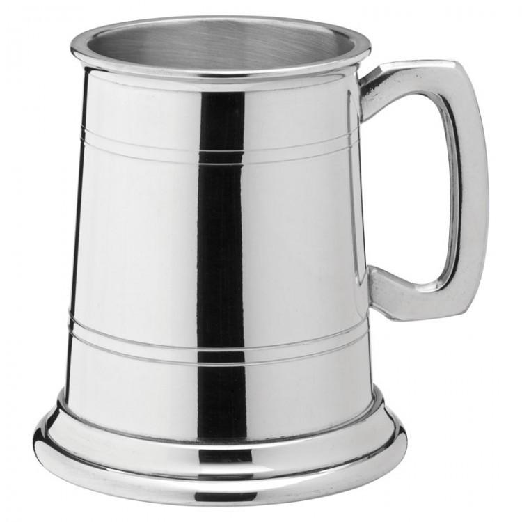 Albany Polished Pewter Tankard 10oz (28cl) CE Half Pint