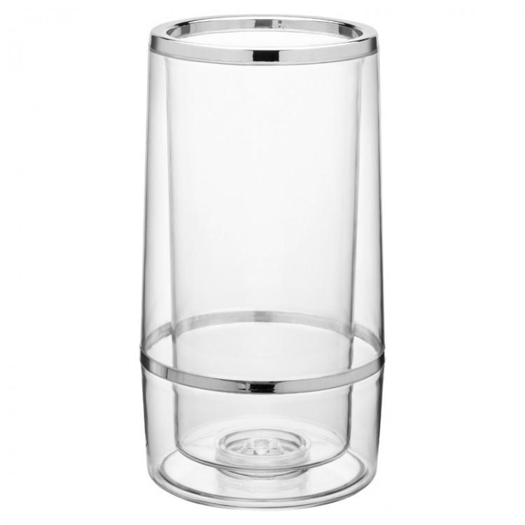"Chrome and Plastic Wine Cooler 8.75"" (22.5cm)"