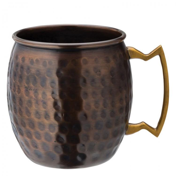 Aged Copper Hammered Round Mug 19oz (54cl) (box of 6)