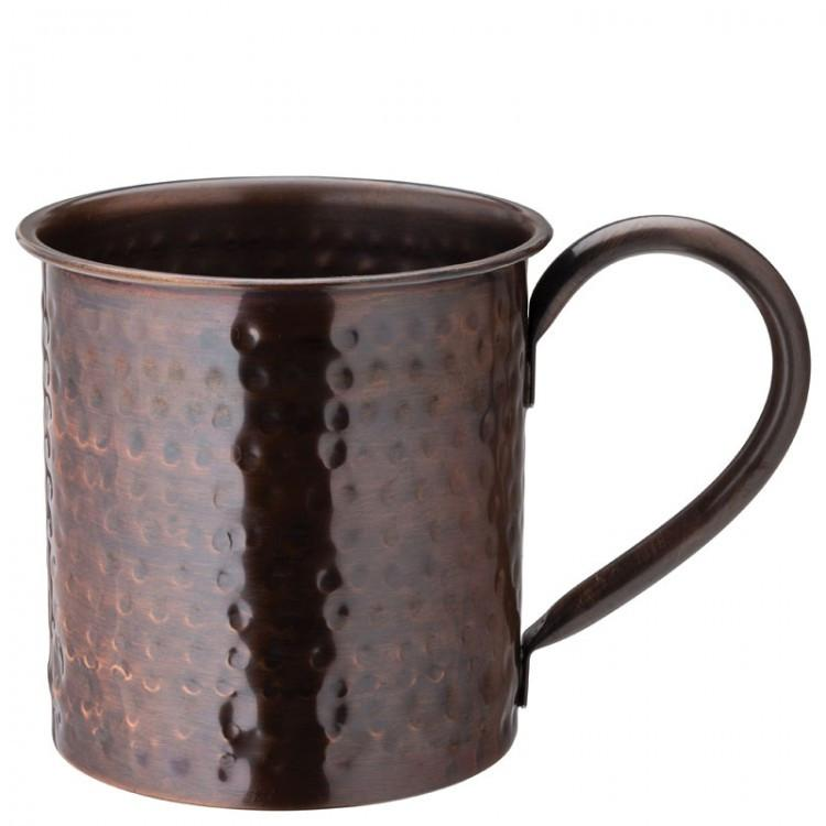 Aged Copper Hammered  Mug 19oz (54cl) (box of 6)